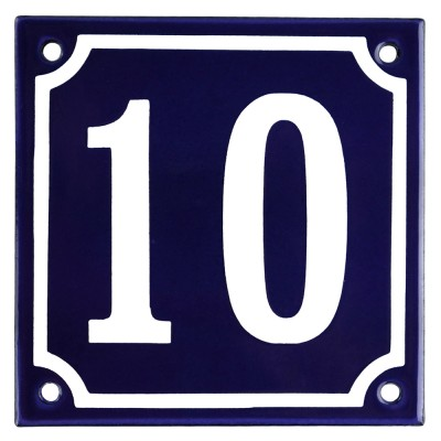 Enamel sign 10 blue - white 10 x 10 cm model 11