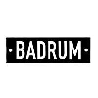 Emaljskylt BADRUM svart - vit 10 x 3 cm modell 21