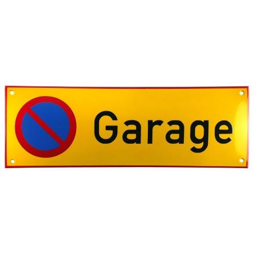 Emaljskylt Garage gul - svart 36 x 12 cm modell 31